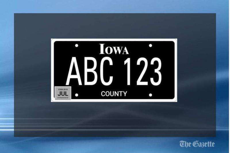 Iowa drivers buying blackout license plates in droves