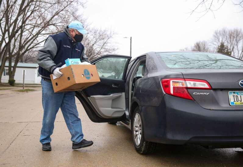 Coralville Community Food Pantry distributes food to those in need, even making home deliveries during the coronavirus pandemic