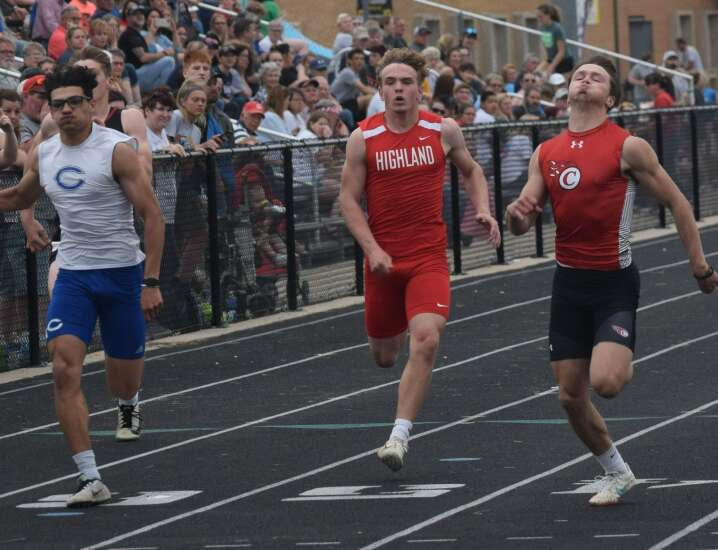 Shattered track, meet records at Sigourney Relays