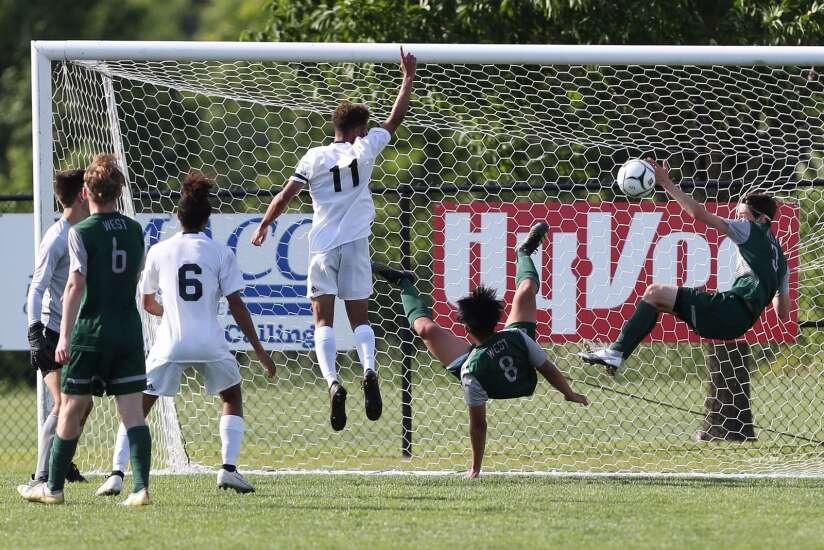Photos: Iowa City West vs. West Des Moines Valley, Iowa Class 3A boys' state soccer semifinals
