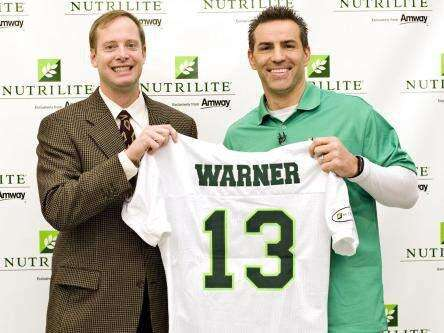 Kurt Warner, endorsing Amway products