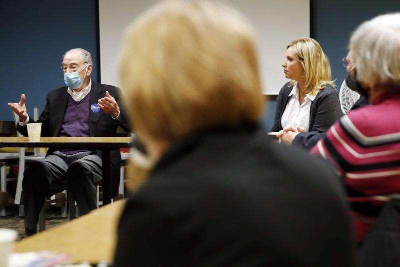 Finkenauer, Hinson spar over health care plans in Iowa 1st District race