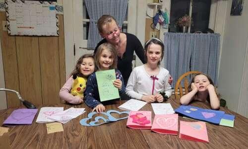Families make cards for JCHC residents, nurses
