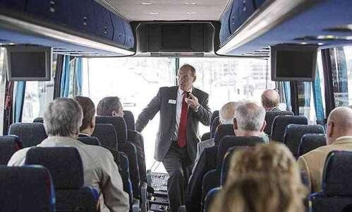 Cedar Rapids casino is about flood recovery, tour-guide Corbett tells…