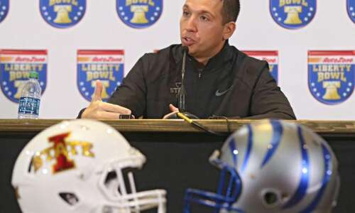 Watch Iowa State Coach Matt Campbell's press conference ahead of…