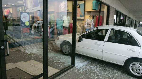 Car crashes through Marion store's front window