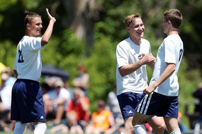 Regina strikes early, late at state soccer