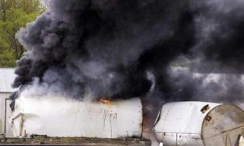 Firefighters battle blaze at old grain elevator in Walford