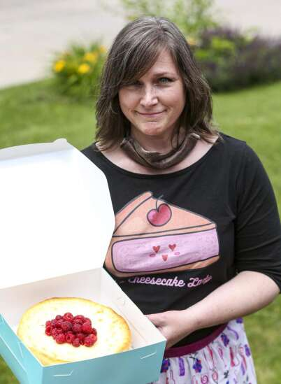 Furlough leads Cedar Rapids woman to launch Out of the Blue Cheesecakes