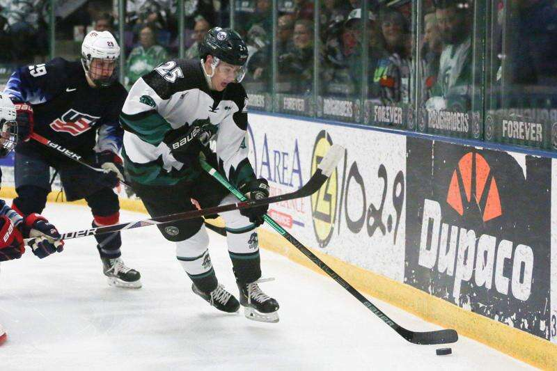 Aidan McDonough's OT power-play goal lifts Cedar Rapids RoughRiders over Chicago in Game 2