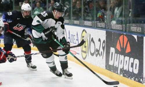 Aidan McDonough's OT power-play goal lifts Cedar Rapids RoughRiders over…