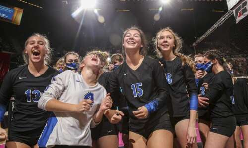Photos: Wilton vs. Dike-New Hartford, Iowa Class 2A state volleyball…