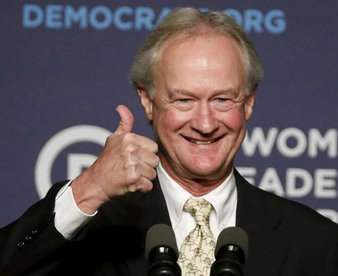 Lincoln Chafee is coming back to Iowa, with yet another party affiliation