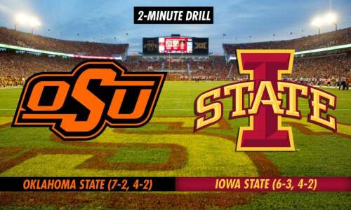 2-Minute Drill: No. 15 Oklahoma State at No. 21 Iowa…