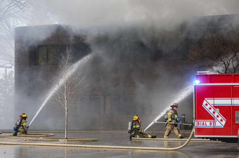 Fire that destroyed UnityPoint office building was not intentionally set, investigators say