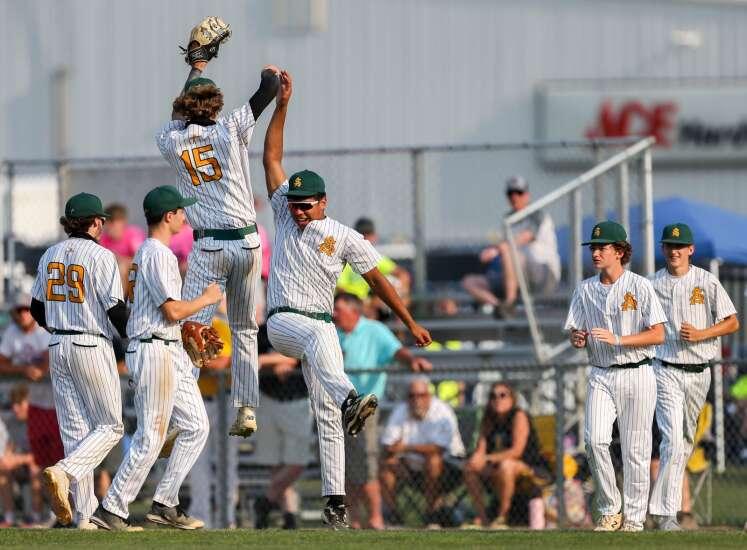 Council Bluffs St. Albert pulls away late for state baseball quarterfinal victory over Lisbon