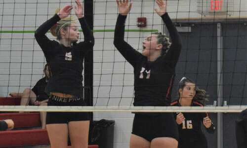 Columbus falls to Highland volleyball