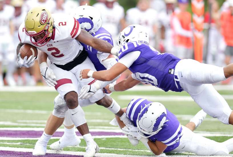 Carter Maske helps lead Coe football to victory over rival Cornell