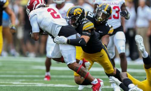 Iowa defense isn't about spark, but that spark was special
