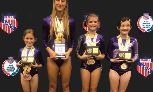 Ide Gymnastics attend AAU Junior Olympics