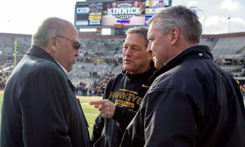 Iowa football talks about getting to the field and staying…