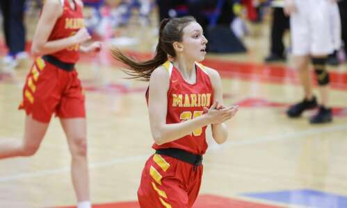 Marion dominates 3rd quarter to beat Clear Creek Amana in…