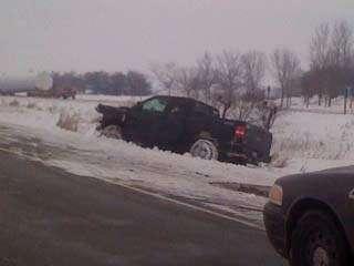 Northbound Interstate 380 traffic slows south of Cedar Rapids