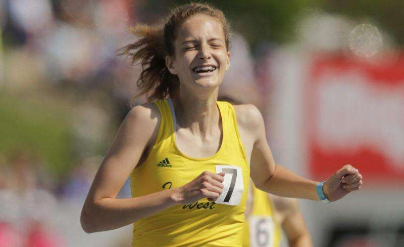 1-2 finish in the 3,000 puts Iowa City West atop 4A girls' state track race