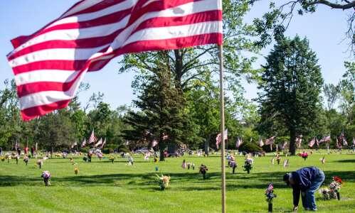 Photos: Memorial Day flag placement at Cedar Memorial Cemetery