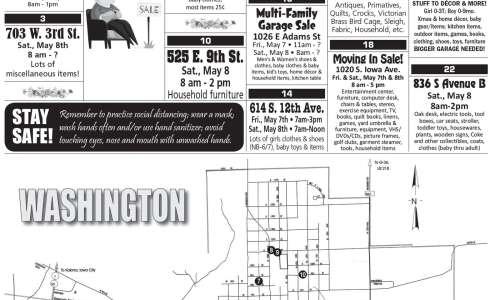 Washington city wide garage sales to start Saturday