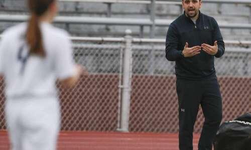Xavier girls' soccer coach Chris Higgins keeping busy