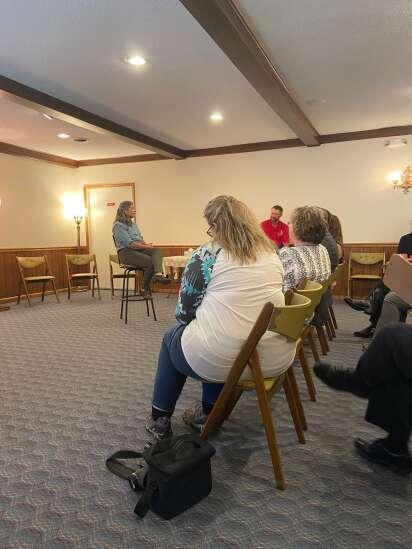 Joni Ernst talks 'Farm-to-Table' tax in Keota