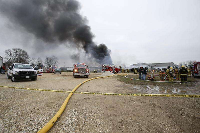Large Fire in Central City still blazing
