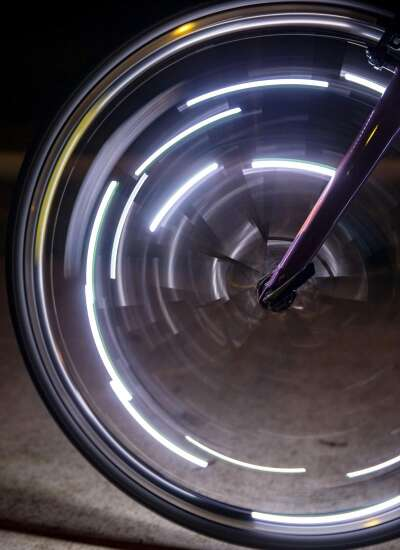 Using motion, light and bike tricks in photography