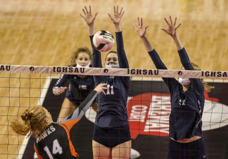 Photos: Cedar Rapids Xavier vs West Delaware, Iowa Class 4A state volleyball final