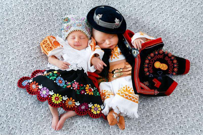 Photo exhibition features babies in Slovak folk dress