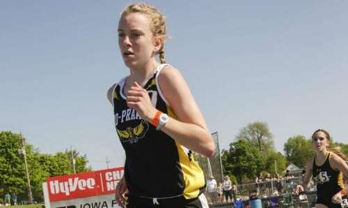 Iowa 2A girls' state track and field: Mid-Prairie's Marie Hostetler…