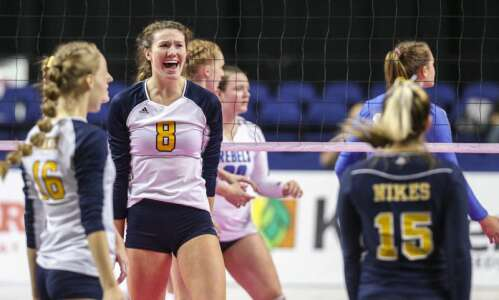 Late-set magic sends Burlington Notre Dame to 1A state volleyball…