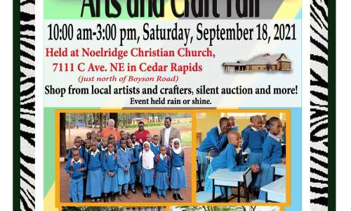 Arts for Africa craft fair scheduled for Sept. 18