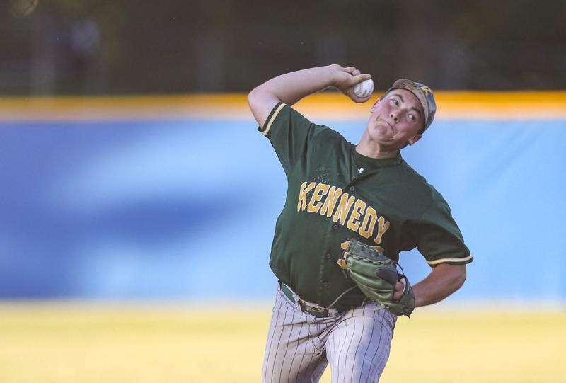 Cedar Rapids Kennedy's Mason Behn returns after offseason elbow surgery