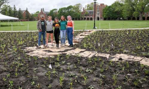 No herbicide? No problem for Grinnell students planting prairie