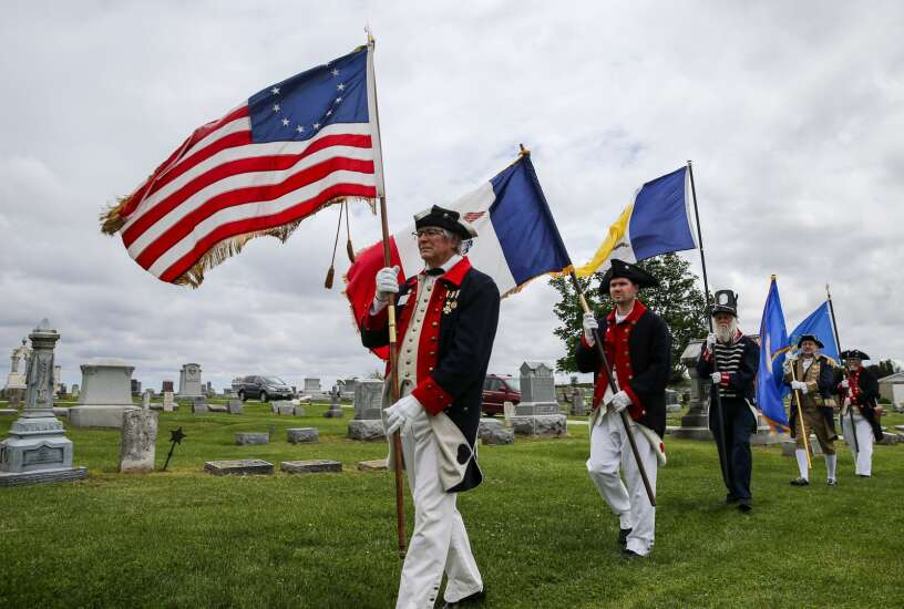 Revolutionary War veteran who moved to Iowa witnessed patriotism and compassion