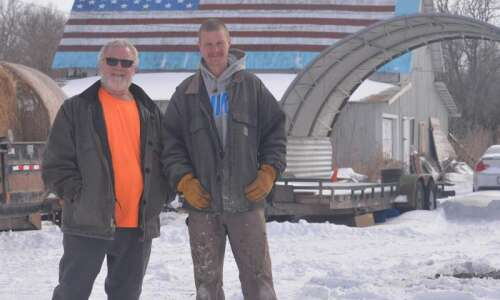 Empty Nest: Stewart Acres puts American flag on barn roof