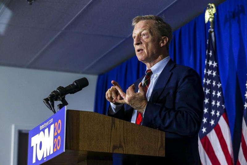 Cedar Rapids Iowa Democratic Party leader endorses Steyer