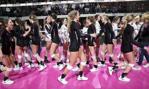 Photos: Western Christian vs. Hudson, Iowa Class 2A state volleyball…