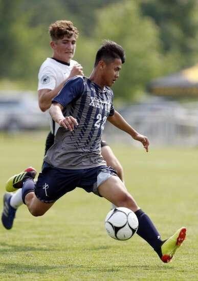 Boys 2A state soccer quarterfinal - CR Xavier vs Knoxville