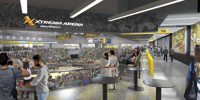 Iowa Arena in Coralville now Xtream Arena powered by Mediacom