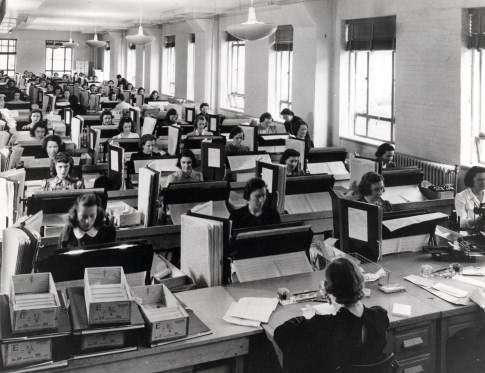 Genealogists and volunteers hard at work indexing the 1940 Census