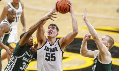 Photos: Iowa men's basketball vs. Michigan State