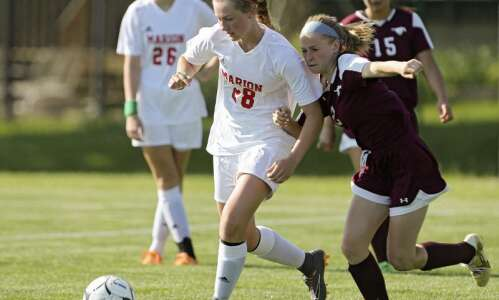 Marion's Jo Hartke continues breakthrough season with hat trick in…